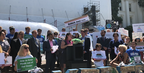 California Circular Economy and Plastic Pollution Reduction Act press conference