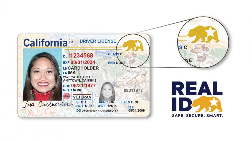 REAL ID drivers license image