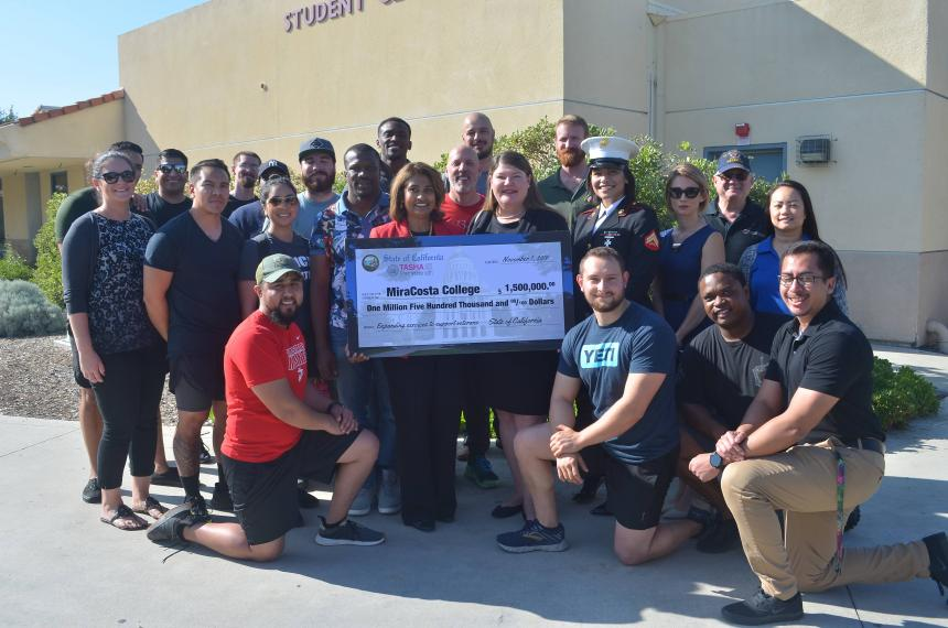 .5 million check presented to MiraCosta College.